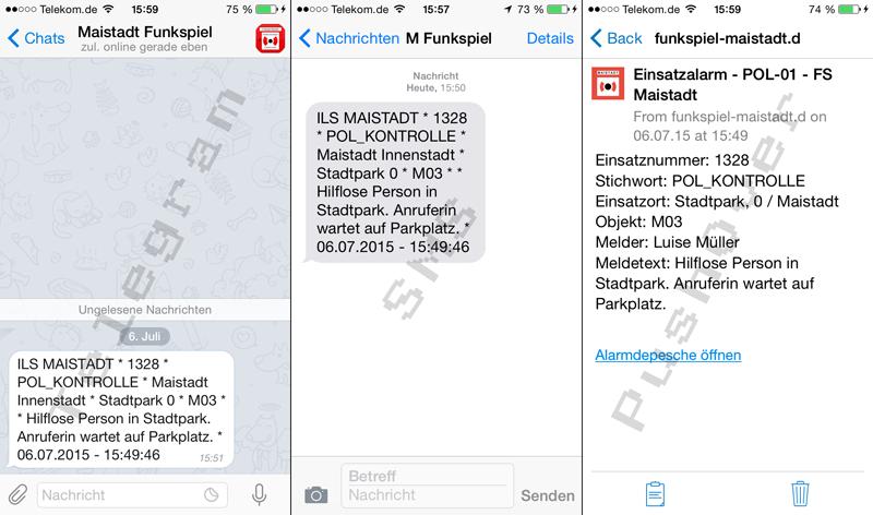 Alarmierungswege des Funkspiels Maistadt - 112% Teamwork