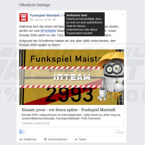 Funkspiel Maistadt - Der Facebook-Haken - 112% Teamwork