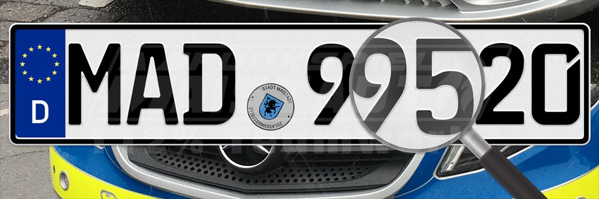 Funkspiel Autokennzeichen